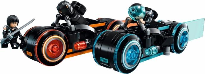 Custom Lego Tron Legacy Son of Flynn Minifig w// Light Disc /& helmet