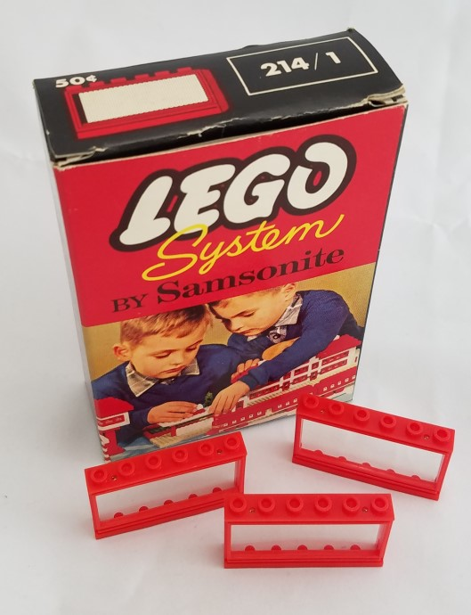 Lego 214_1 1 x 6 x 3 Window with Frame image