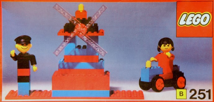 Lego 251 Windmill with miller and wife image
