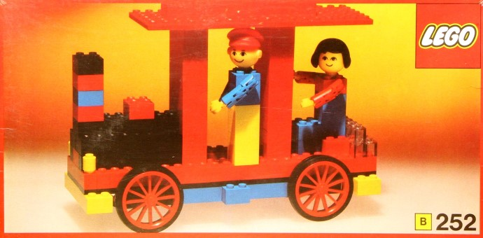 Lego 252 Locomotive with driver and passenger image