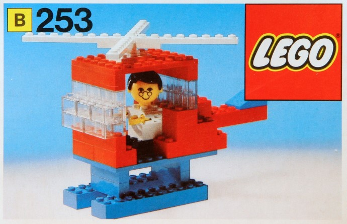 Lego 253 Helicopter and Pilot image