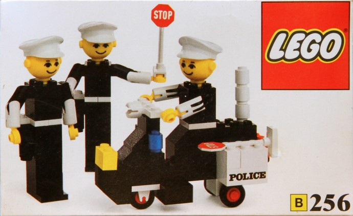 Lego 256 Police Officers and Motorcycle image