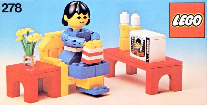 Изображение набора Лего 278 Television Room
