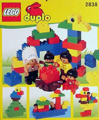 Lego 2838 Native American Family image