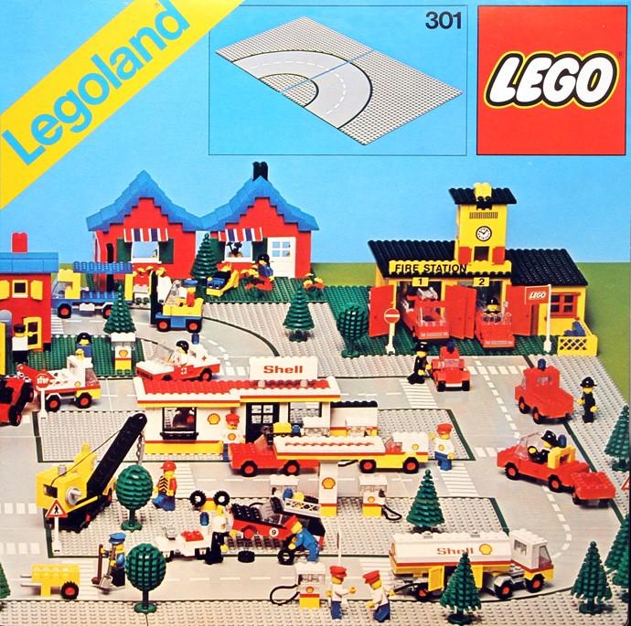 Изображение набора Лего 301 Road Plates, Curved