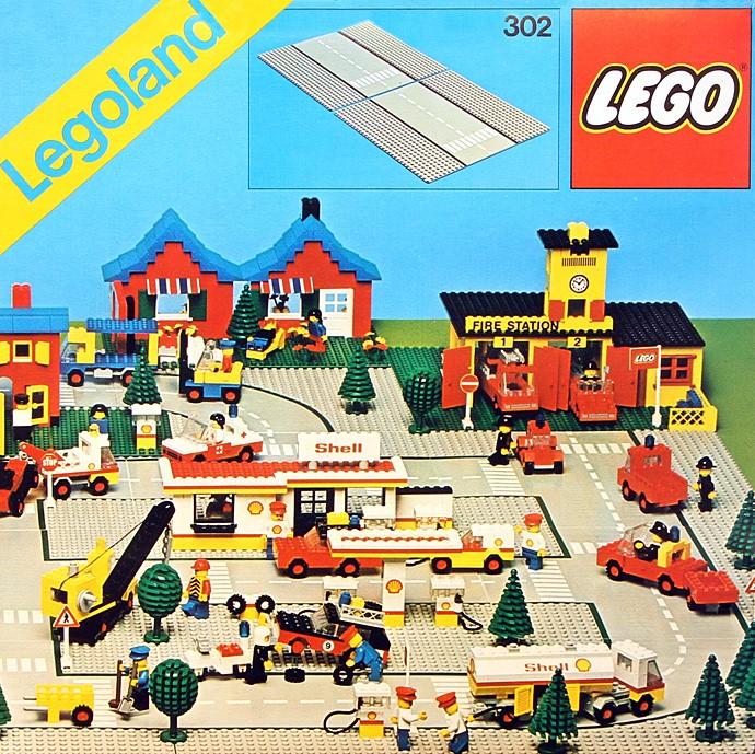 Изображение набора Лего 302 Road Plates, Straight
