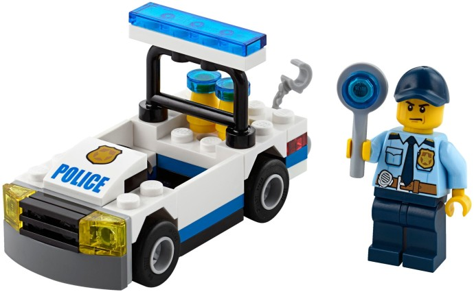 30352 1 police car brickset lego set guide and database - Voiture ninjago ...