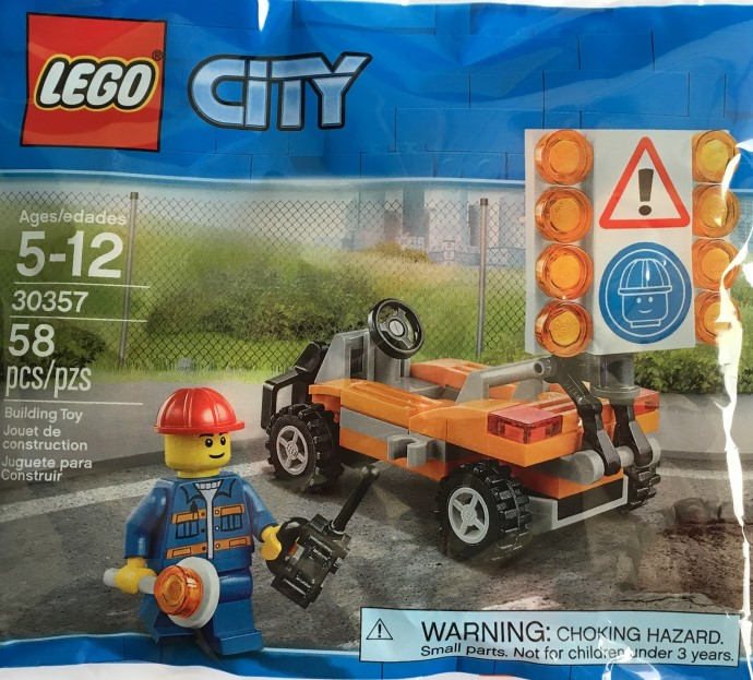 Road Worker Polybag Lego City 30357
