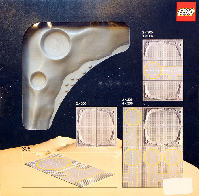 Lego 305 Two Crater Plates image