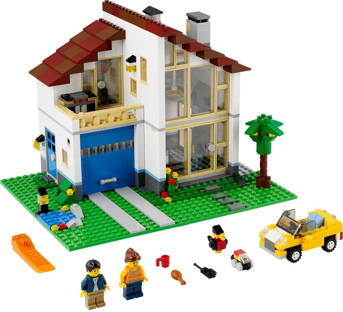 31012 1 family house brickset lego set guide and database. Black Bedroom Furniture Sets. Home Design Ideas