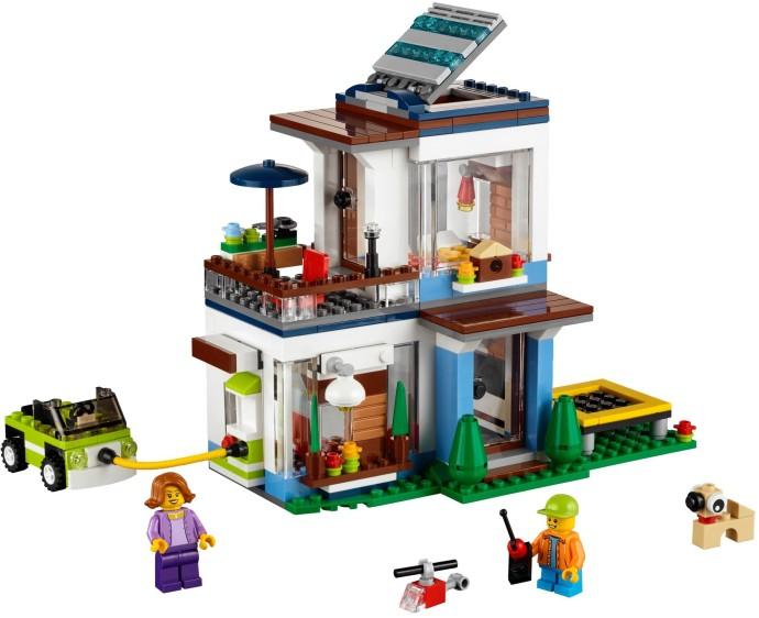 31068 1 modular modern home brickset lego set guide - Modele construction maison lego ...