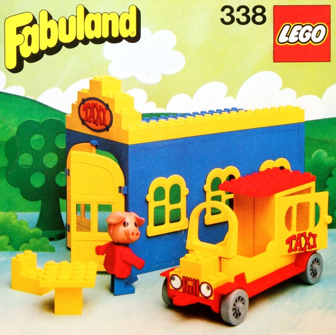 Lego 338 Blondi the Pig and Taxi Station image