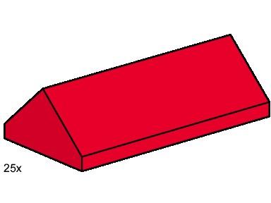 Изображение набора Лего 3445 2x4 Ridge Roof Tiles Steep Sloped Red