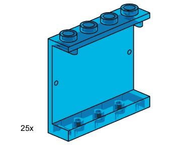 Lego 3447 1x3x4 Wall Element Transparent Blue image