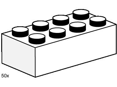 3460 1 2x4 White Bricks Brickset Lego Set Guide And