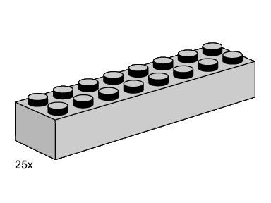 Lego 3464 2x8 Light Grey Bricks image