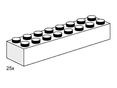 Lego 3465 2x8 White Bricks image