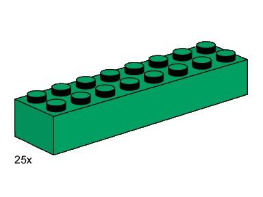 Lego 3466 2x8 Dark Green Bricks image