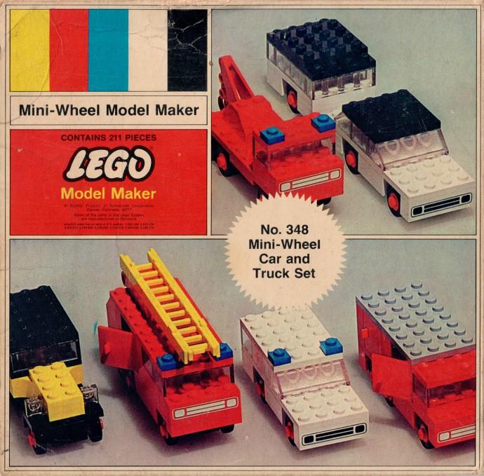 Изображение набора Лего 348 Mini-Wheel Car and Truck Set