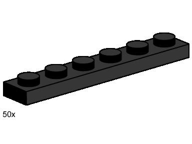 Изображение набора Лего 3486 1x6 Black Plates