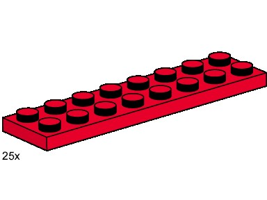 Lego 3491 2x8 Red Plates image
