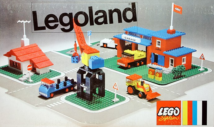 Lego 355 Town Center Set with Roadways image
