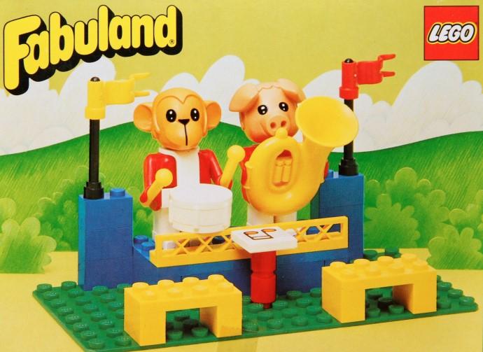 Изображение набора Лего 3631 The Fabuland Big Band Peter Pig and Gabriel Gorilla