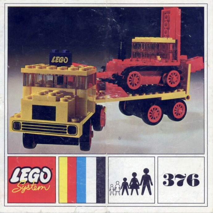 Lego 376 Low loader with Excavator image
