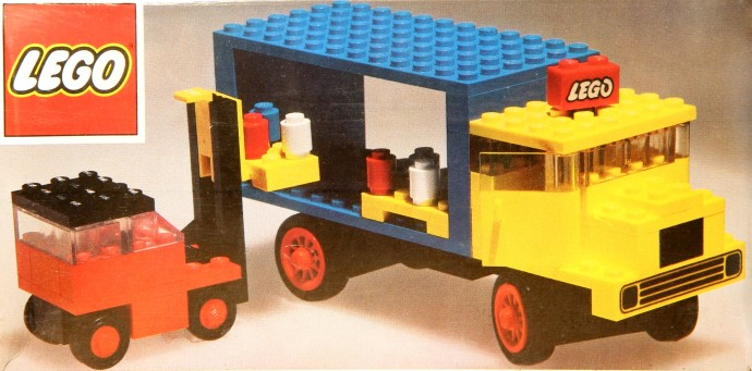 Lego 381 Lorry and Fork Lift Truck image