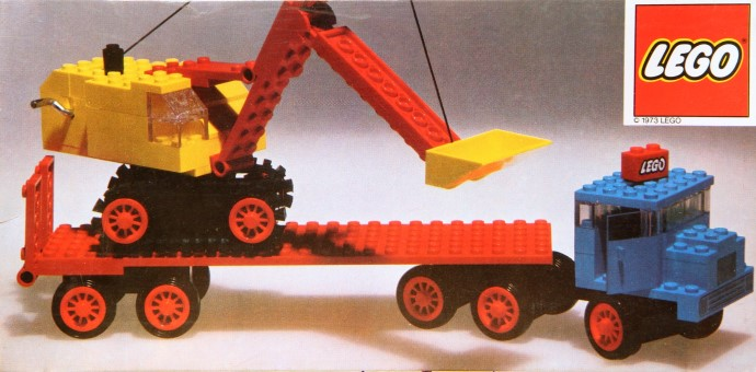 lego excavator transport instructions