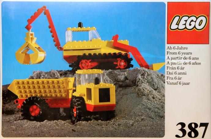 Lego 387 Excavator and Dumper image
