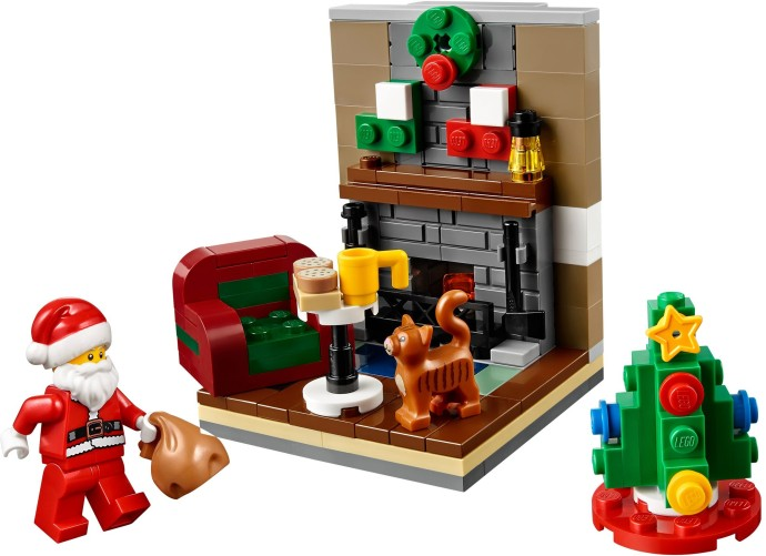 40125 1 santa 39 s visit brickset lego set guide and database. Black Bedroom Furniture Sets. Home Design Ideas