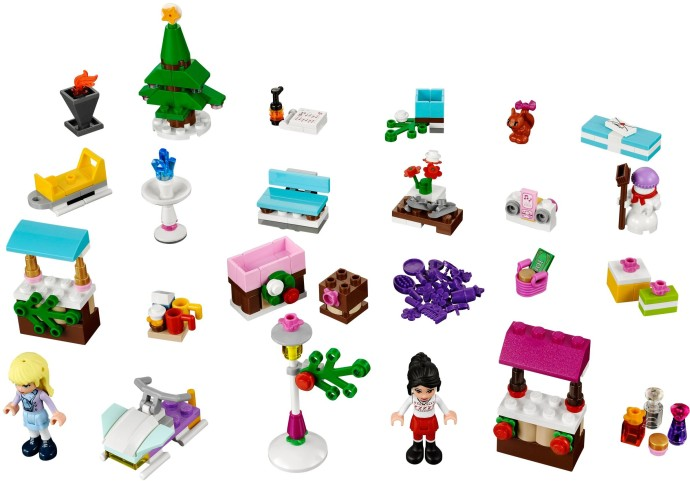 41016 1 Friends Advent Calendar Brickset Lego Set Guide And Database