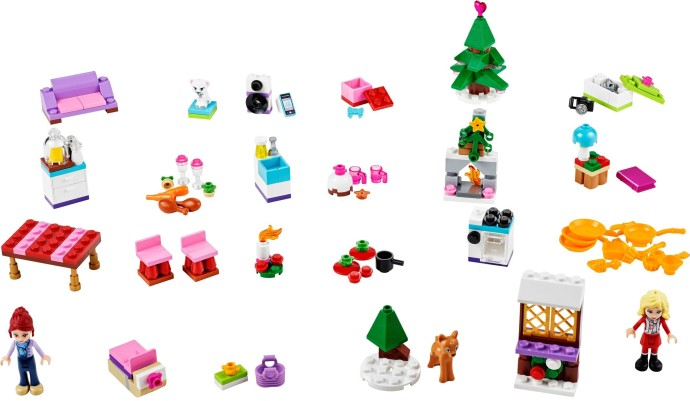 41040 1 Friends Advent Calendar Brickset Lego Set Guide And Database