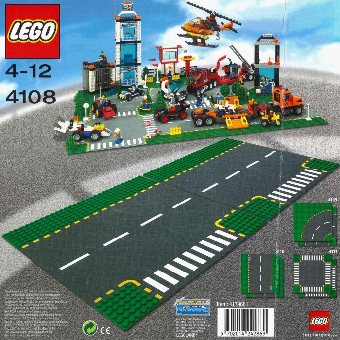 New Lego Technic 2018 >> 4108-1: Road Plates, Junction | Brickset: LEGO set guide and database