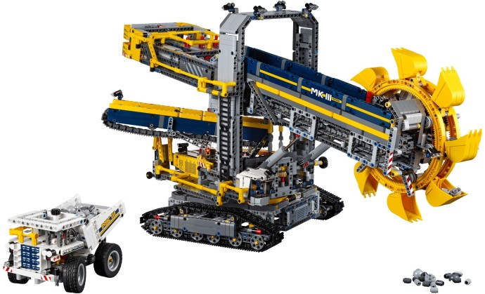 42055 1 bucket wheel excavator brickset lego set guide. Black Bedroom Furniture Sets. Home Design Ideas
