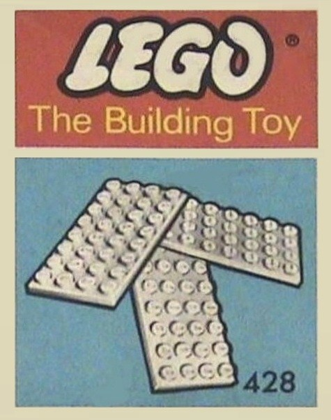 Lego 428 5 Plates 4 x 8 (The Building Toy) image
