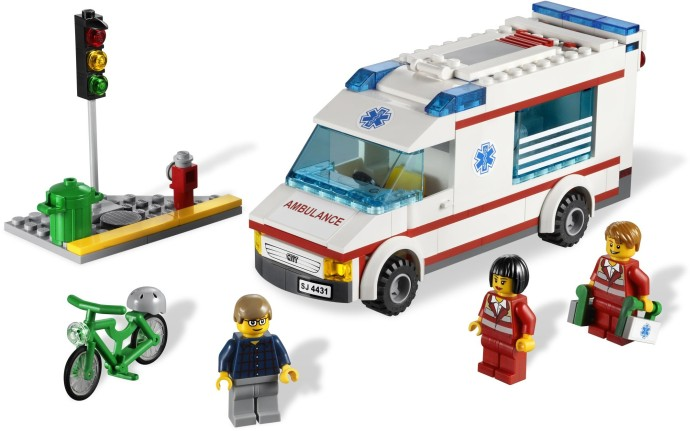 4431 1 ambulance brickset lego set guide and database - Lego ambulance ...
