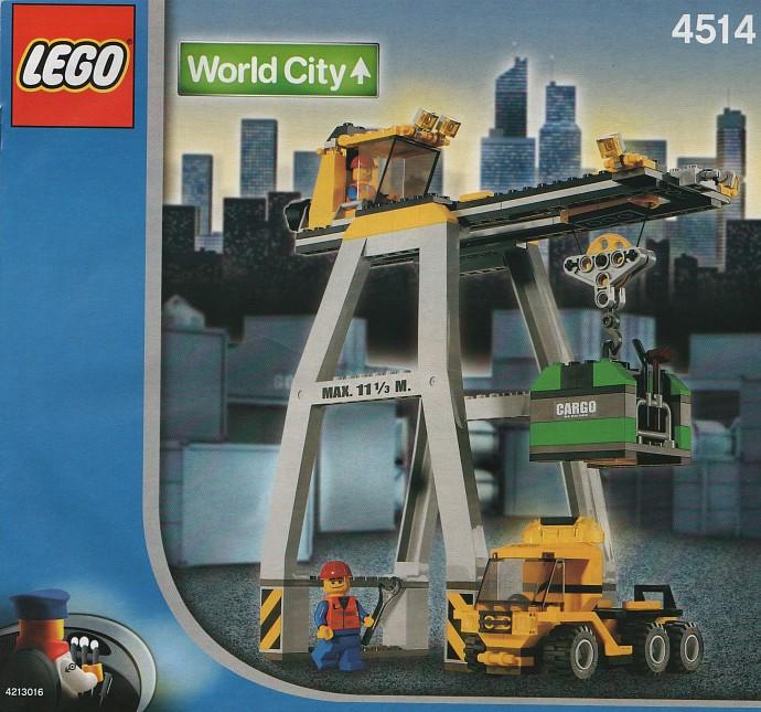 4514 1 Cargo Crane Brickset Lego Set Guide And Database