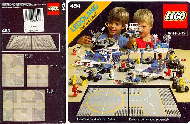Lego 454 Two Lunar Landing Plates image