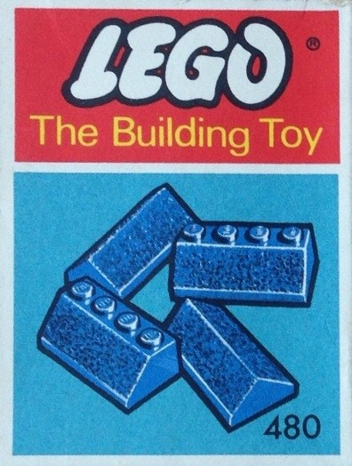 Lego 480 Slopes and Slopes Double 2 x 4, Blue (The Building Toy) image