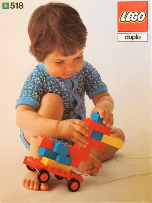 Lego 518 Bricks and half bricks and trolley image