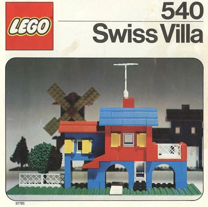 Lego 540 Swiss villa image