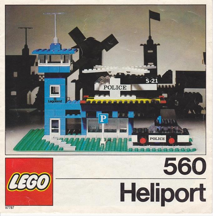 Изображение набора Лего 560 Police Heliport