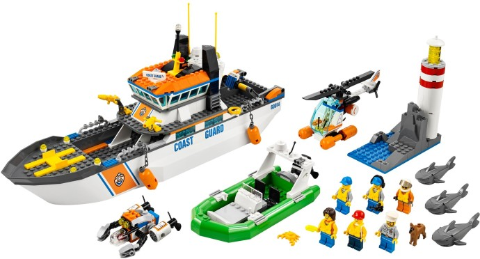lego coast guard boat 7739 instructions
