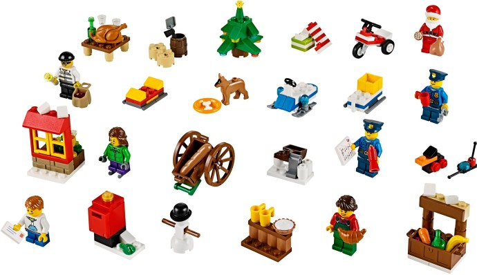 60063 1 City Advent Calendar Brickset Lego Set Guide And Database