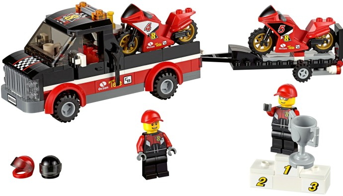 Review 60084 racing bike transporter brickset lego set for Brick city motors reviews