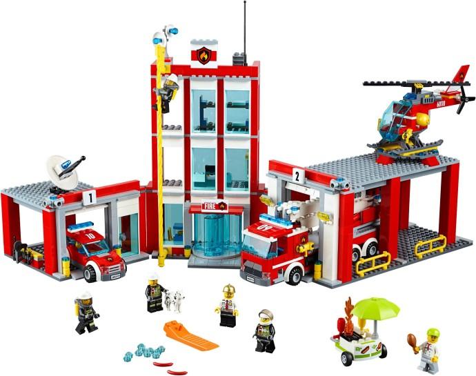 60110 1 Fire Station Brickset Lego Set Guide And Database