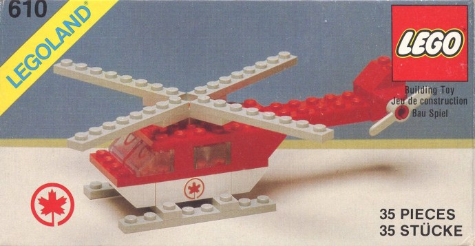Изображение набора Лего 610 Rescue Helicopter
