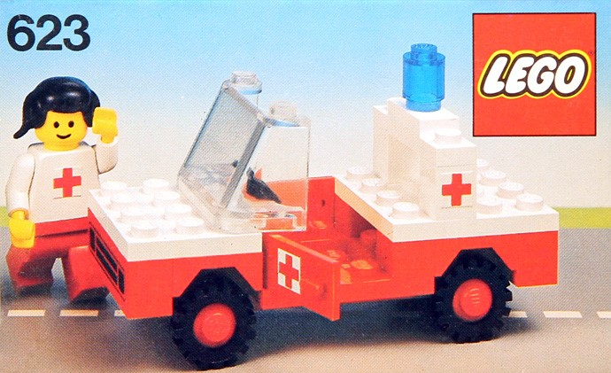 Lego 623 Red Cross Car image